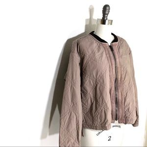 Free People Nude/Blush Quilted Jacket